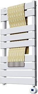 JUNPE Radiador Toallero Agua Calefaccion Blanco Cuarto De Baño Toalla De Smart Eléctrico del Radiador De Calefacción De Fibra De Carbono Seco Baño Tendedero Bastidores De Toallas Y Calefacción
