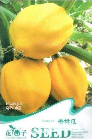 Livraison gratuite 3 Packs 24 de Peach Melon Citrouille Graines B070
