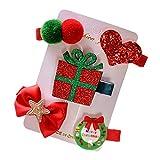Topke Club Band Pelo del Tocado del Clip del árbol 5pcs / Set Niños de Navidad Horquilla del Pelo Garra Niños muñeco de Nieve del Partido de Santa