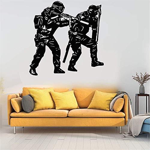 stickers muraux princesse sofia Wall Sticker Decals Police Swat Army For Nursery Kids Room Boys Room Bedroom Living Room Home Decor home decor