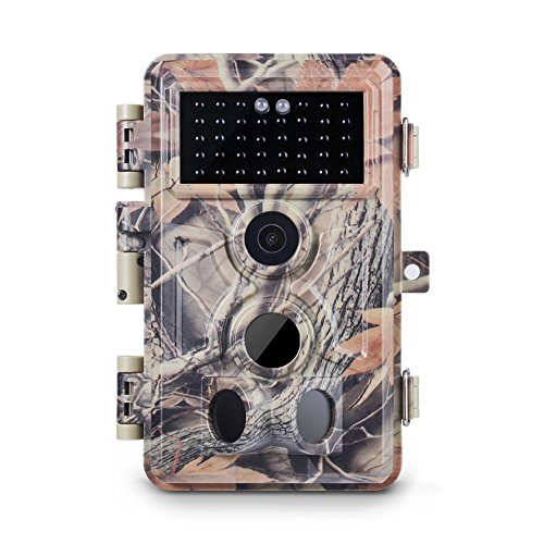 Meidase Trail Camera 16MP 1080P, Game Camera with No Glow Night Vision Up to 65ft, 0.2s Trigger Time Motion Activated, Unique Keypad, 2.4' Color Screen, Waterproof Wildlife Deer Hunting Cam