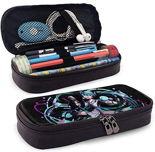 Astuccio portamatite Grande capacità Penna portaoggetti Tasca portamatite Portaoggetti portatile con cerniera per scuola e ufficio - 7,88x3,54x1,58 pollici - Diva misteriosa