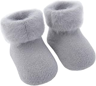 COMVIP 3Styles Baby Toddler Knit Turn Cuff Thick Winter Warm Soft Crew Socks