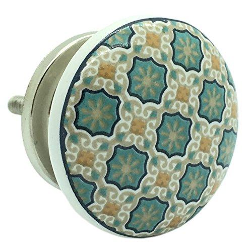 G Decor Keramik Tür-/Schubladenknauf von G Decor, Divine Will-Muster, im Vintage Look