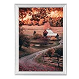 Poster Frame A2 Size (16.5'x 23.4'), Front-Loading Snap Frame, Silver 1 Inch...