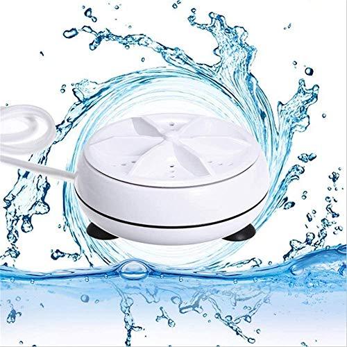WLL-DP Mini lavadoras de Ropa portátiles Esterilización por turbina ultrasónica Elimina la Suciedad Lavadora Secadora de Ropa Lavadora de Ropa Cable USB para Viajes Inicio Negocio