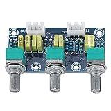 Weikeya Pre-Amplificador Módulo, Bajo Ajustamiento 3 Canales Pre-Amplificador Módulo Viraje Junta por Audio Xh2 .54 3p Enchufe