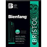 Speedball Art Products Bienfang Bristol Papier Pad, Surface Lisse, Blanc, 9 by 12-inch