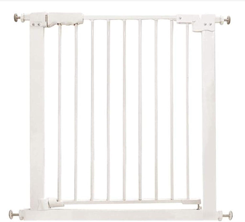 LXLX Isolation door, punchfree, dog fence, door bar, indoor dog fence, safety railing, extension pole, square fence (Size   7787cm)