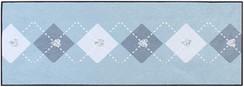 tienda de ventas outlet Alfombra Alfombra de la habitación Dormitorio Manta Sala de de de Estar Tira Enrejado Simple Estera de Cocina Alfombra Lavable a máquina (Color   azul, Talla   50  120CM)  autentico en linea