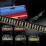 Wigbow 60' Tailgate Light Bar 504LED Triple Row Running Brake Reverse Turn Signal Tail Lights Strip Waterproof + Free 4-Way Flat Connector Wire for Trucks Pickup SUV RV Van Jeeps Trailer