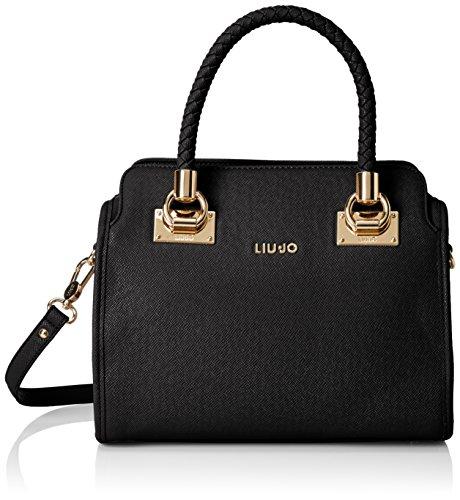 Liu Jo BOSTON BAG N66227E0140 Damen Bowlingtaschen 34x27x17 cm (B x H x T), Schwarz (Black 22222)