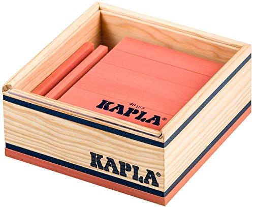 Kapla 9000161 Holzplättchen 40-teilig in Box, Rosa