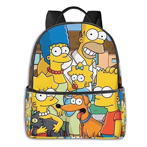Cartoon Simpsons Rucksack Schule für Männer Frauen passt 36,8 cm (14,5 Zoll) leichte Laptoptasche Reiserucksack vielseitig