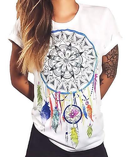 lepni.me Serbatoio,Maglietta Senza Maniche Femminile Meditazione Yoga Namaste Asana Mandala Mente Mente Corpo Anima
