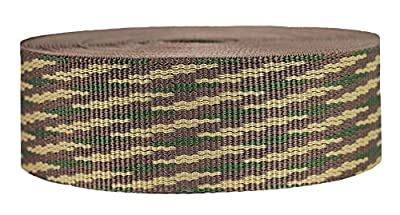 Strapworks Heavyweight Polypropylene Webbing - Heavy Duty Poly Strapping for Outdoor DIY Gear Repair, 2 Inch x 10 Yards - Woodland Camo