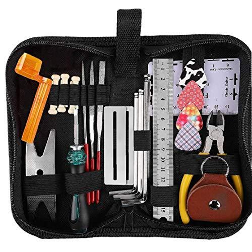 lujiaoshout Gitarre Reparatur-Tool-Kit, Gitarre Setup-Kit-Reparatur-Werkzeuge für Ukulele Bass Mandoline Gitarre Instrument Zubehör 26pcs