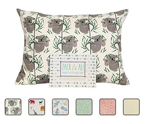 Zack & Ali 100% Organic Toddler Pillowcase, Koala, 13 X 18, Made in USA!