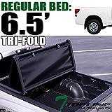 Topline Autopart Tri Fold Soft Vinyl Truck Bed Tonneau Cover For 14-19 Toyota...