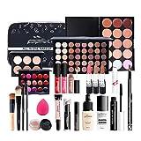 BHUJYG 24 Pcs Makeup Set Matte Lipstick Professional Eyeshadow Palette Mascara Gift with Cosmetic Bag Travel Portable Long Lasting