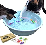 BlackHole Litter Mat Interactive Swimming Robot Fish Toy for Cat with LED Light (4 pcs), Electronic Cat Toy to Stimulate Your Cat's Hunter Instincts