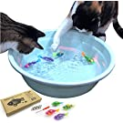 Interactive Swimming Robot Fish Toy for Cat with LED Light (4 pcs) BlackHole Litter Mat, Cat & Dog Toy to Stimulate Your Cat's Hunter Instincts