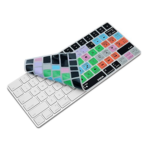 XSKN Logic Pro X 10 Shortcut-Silikon-Tastaturfolien sind kompatibel mit Apple Magic Keyboard (MLA22LL/A) US-Layout