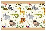 I-love-Wandtattoo Bordo Autoadesivo Animale da Safari Colorati la Camera dei bambinistripes Carta