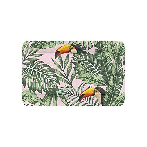 Yushg Dschungel Palm Vogel Extra Große Individuell Bedruckte Bettwäsche Weiche Hundebetten Couch Für Welpen Und Katzen Möbel Matte Cave Pad Kissenbezug Innen 36x23 Zoll