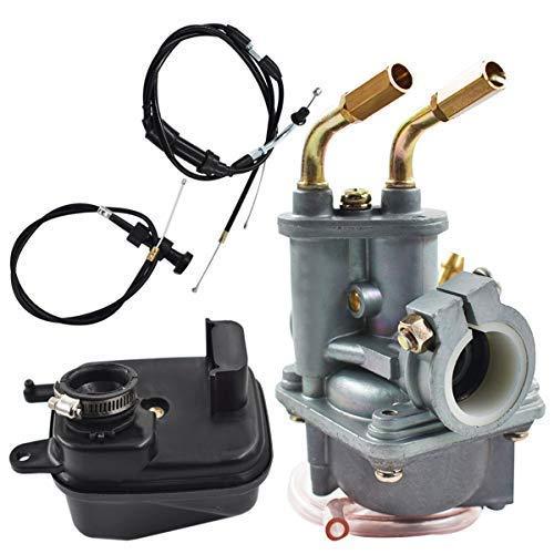 AISENPARTS Filtro de aire del carburador y cable del estrangulador del acelerador para Yamaha Y ZINGER PW 50 PW50