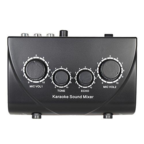 ammoon Sonido Audio Mezclador Estéreo de Eco Portátil Karaoke ...
