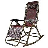 FUFU Sillas de salón para patio, silla plegable de oficina, silla de descanso para el almuerzo, silla de escapada, silla para ancianos, solo para verano, cama Siesta, 47 x 76 cm, duradera