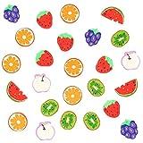 96 Mini Obst Radiergummis  Ungiftig & Umweltfreundlich  Kleine Radiergummis (Kiwis Erdbeeren Orangen Melonen Trauben Äpfel)  Kindergeburtstag Geschenk Party Mitgebsel Schule Belohnung Preise.