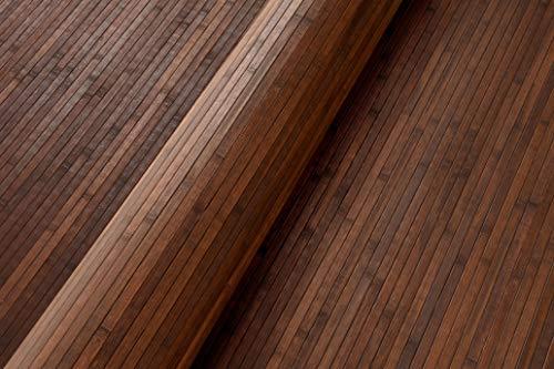 Bambus Wandverkleidung - Exotischer Rollbelag aus echten Bambuslatten (Höhe: 150 cm / 1 Stk. = 1 Meter, Natur dunkelbraun)