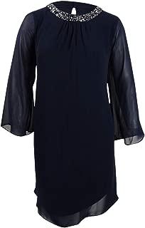 SL Fashions Plus Size Embellished Shift Dress