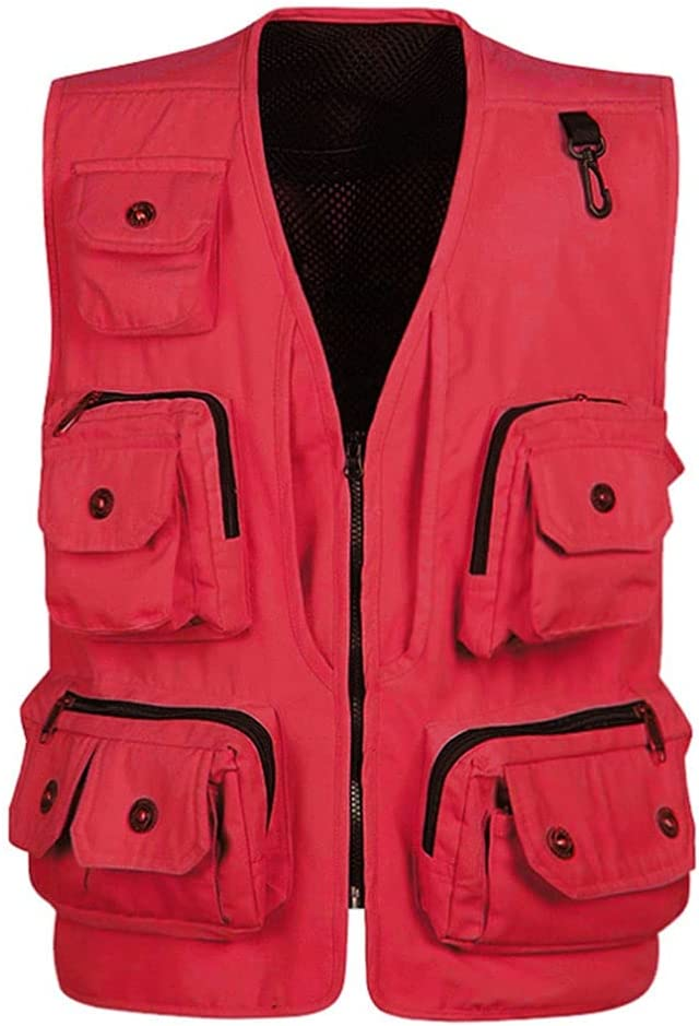HYFDGV Fishing Vests for half Men Multi-Pocket Casual Ja ! Super beauty product restock quality top! Vest