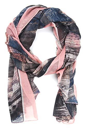 collezione alessandro sjaal Agatha houtlook in kleuren geïmpregneerd 180cm x 90cm