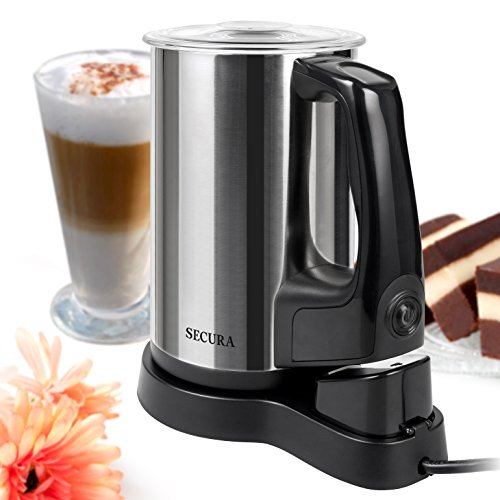 Secura Automatic Electric Milk Frother and Warmer, 8.45 oz Stainless Steel Milk Steamer