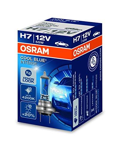 Osram 64210CBI Lámpara para Faros Halógena, 64210CBI-HCB de 12 V, Cool Blue Intense Caja H7