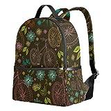 Ahomy Rucksack für Mädchen, Blumen, Fahrrad- und Vogelrucksack, Schule, Büchertaschen, lässige Tagesrucksäcke für Reisen und Sport