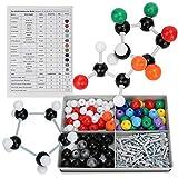 240 PCS Molecular Orgánico Estructura Inorgánica Kit Atom Link Model Set para El Modelo De La Química del Maestro del Estudiante Modelo Molecular