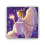 dudkaair Angel Fantasy Art 11.8'' Handmade Wall Clock - Get Unique décor for Home or Office – Best Gift Ideas for Kids, Friends, Parents and Your Soul Mates