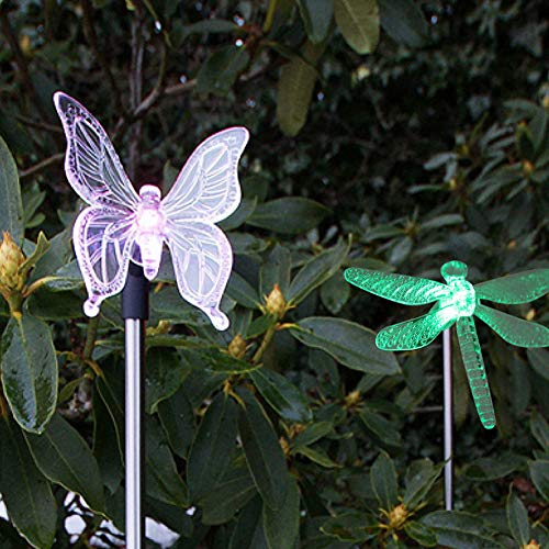 Lampada da Parete 2 Pezzi/Set Bella Forma di Animale Luce Solare a LED Che Cambia Colore da Giardino Prato da Terra