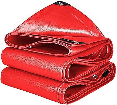 CHGDFQ Tarps Multi Purpose Tarp Red Double-Sided Waterpro Cover Max 45% OFF Max 83% OFF