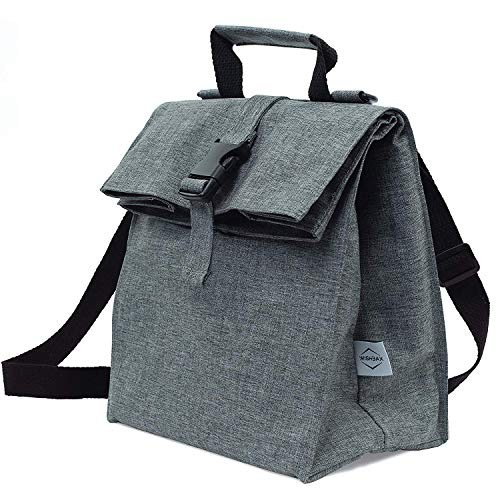 Thermal Insulated Lunch Bag - Reusable Leakproof Cooler for Men Women and Kids - Adjustable Shoulder Strap for Outdoor Activities Work or School