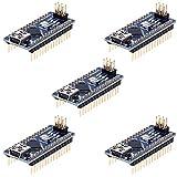 Anpro 5 Stück Nano Plus Entwicklerboard mit CH340 Chip Atmega328P für Arduino, EINWEG