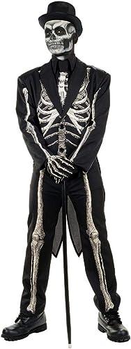 Horror-Shop Skelett Anzug Kostüm Frack für Halloween XXL