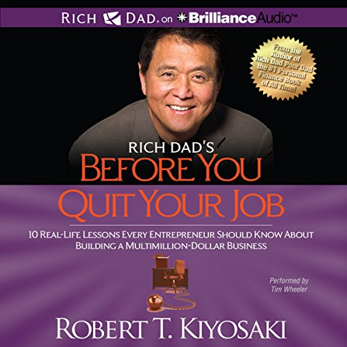 Rich Dad's Before You Quit Your Job audiobook cover art