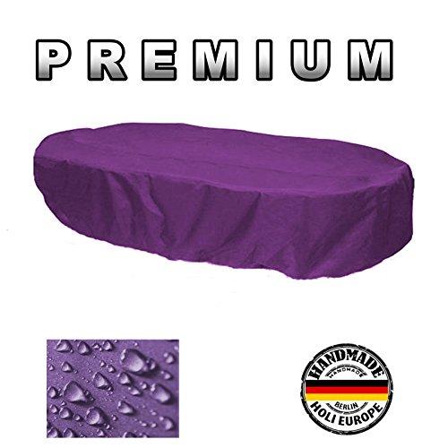Holi Europe Gartenstuhl-Kissen Housse de Protection Coque Table de Jardin Ovale 165 cm x 110 cm x 70 cm Violet