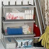 Rotho 1776008812 Aufbewahrungskiste Compact mit Deckel, Lager Box aus Kunststoff im DIN A4 Format, Inhalt 13 L, Plastik, transparent/anthrazit, 39.5 x 27.5 x 18 cm - 5